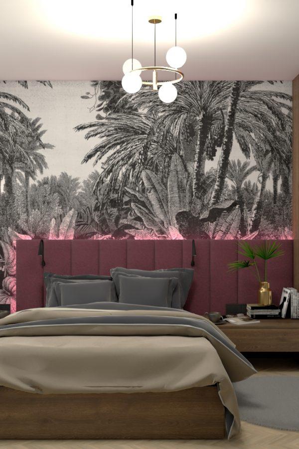 Projekt małej sypialni 21m2